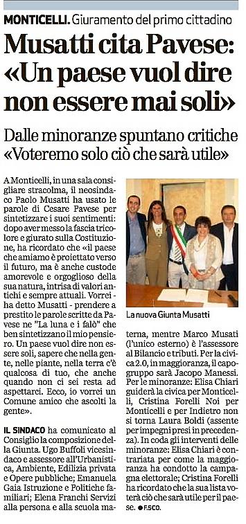 Rassegna Stampa 15/06: Bresciaoggi