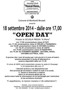Open Day Musicalmente Monticelli 2014