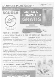 Locandina Corso Computer
